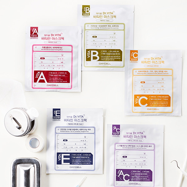 [DAYCELL] Dr.VITA Mask Pack 30g. Cellulose Tencel Gel Facial Mask Sheet.