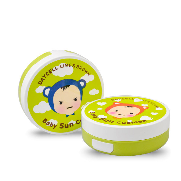[DAYCELL] LIME & BROWN Baby Sun Cushion D.I.Y Case 50ml - For Boys or Girls