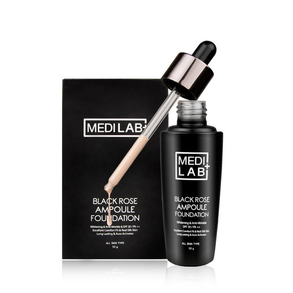 [DAYCELL] MEDI LAB Black Rose Ampoule Foundation Makeup 50g, SPF30/PA++