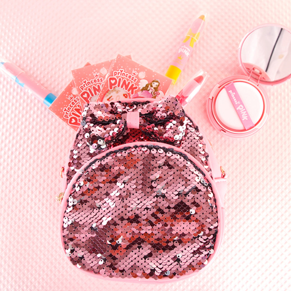 [DAYCELL] princess PINK Bling Bling Kid Bag For Girls