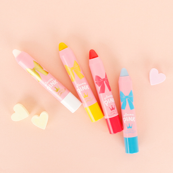 [DAYCELL] princess PINK Lip Crayon 2.5g, 4 Types